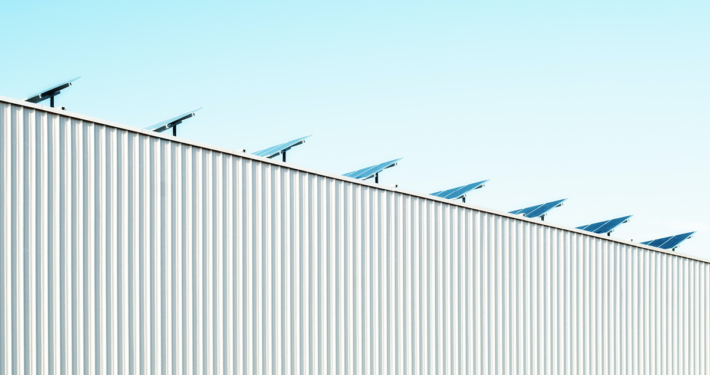 Solarpanel auf dem Dach