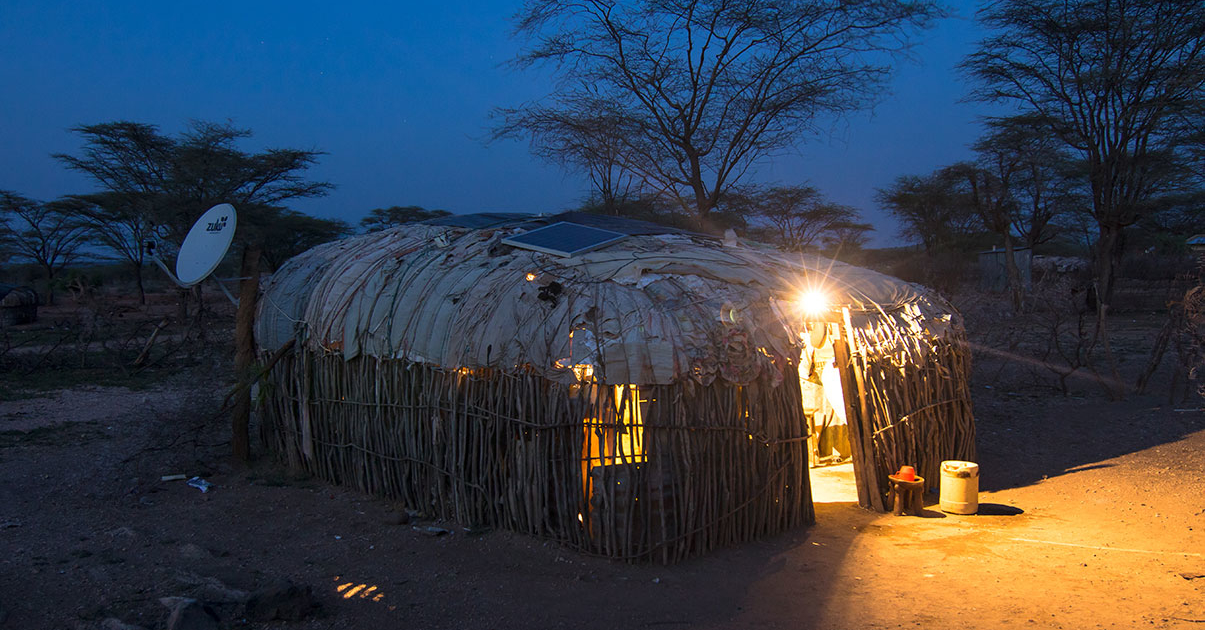 Africa hut solar